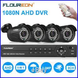 1080N 8CH AHD DVR 3000TVL Home Security Camera System IR Night CCTV Kit 1TB HDD