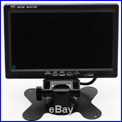1080P 4CH Car Vehicle 7 Monitor DVR Recorder Cam Kit LED Front/Rear/Side Camera