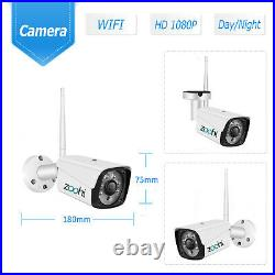 1080P 4/8CH HD WiFi Security Camera System Wireless Outdoor IP CCTV NVR Kit APP