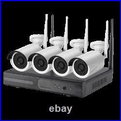 1080P 4 Channel DVR Security CCTV Kit 4 x 1080P Wireless Cameras With 1TB HDD