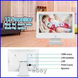 1080P Security Camera System Wireless Outdoor WiFi 12'' LCD Monitor CCTV 1TB Kit