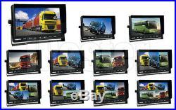 10.1 Quad Monitor+4PIN CCD Reversing Parking Camera Night Vision Kit for Truck