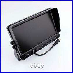 12-24V 7 Quad Monitor Car Rear View Kit for Truck Bus Car + 4 IR Side Cameras