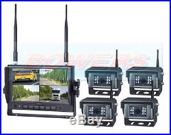 12v24v 4 Way Wireless Front Rear & Side View LCD 7 Reversing Reverse Camera Kit