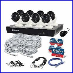 16CH 5MP HD SWANN CCTV KIT 8 x 5MP Thermal Cameras 2TB HDD