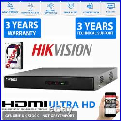 16CH Hikvision CCTV 1080P DVR 2.4MP NightVision Outdoor Home Security System Kit