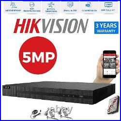 16CH Hikvision CCTV FULL HD 4K 5MP NightDay Outdoor DVR Home Security System Kit