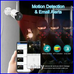 1920P Audio Wireless NVR Wifi 5MP Security Camera System Outdoor CCTV IR Kit