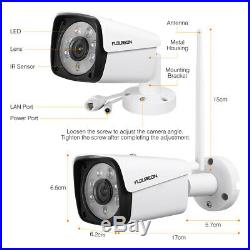 1TB HDD+ 1080P HD Wireless CCTV Home Security Camera System 8CH NVR Recorder Kit