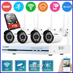 1TB HDD 4CH 1080P CCTV DVR Kits Outdoor 720P IP Camera Home Security NVR System