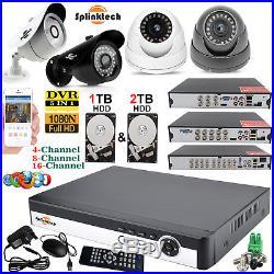 1TB HDD 4CH 8CH 16CH 1080P CCTV DVR Outdoor Camera Home Security CCTV System Kit