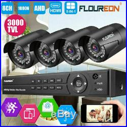 1TB HDD 8CH 1080N 5IN1 AHD DVR Outdoor 3000TVL Camera CCTV Security System Kits