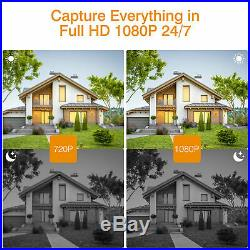 1TB HDD 8CH 1080P Wireless NVR CCTV System Kit Outdoor Wireless 1080P IP Camera