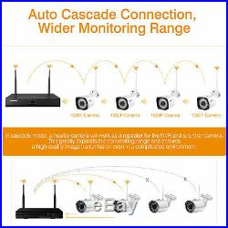 1TB HDD 8CH Wireless system Kit With NVR 1080P CCTV Security Outdoor IP Camera