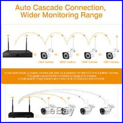 1TB Wireless CCTV 1080P HDMI 8CH NVR Recoder Outdoor WiFi IP Camera Security Kit