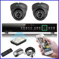 2 x Sony Effio-e CCD Night Vision Full 960H HD-MI P2P CCTV Complete Kit UK 500GB