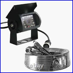 2x CCD Reversing Camera 4-PIN 7 Split QUAD Monitor Trailer Caravan 10M+20M Kit