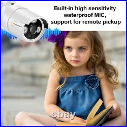 3MP Audio POE Security IP Camera System Kit 4CH 1080P 5MP NVR HD Home CCTV 1TB