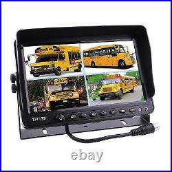3 x Reversing Camera + 9 LCD Monitor Car Rear View Kit For Bus Truck 12V/24V