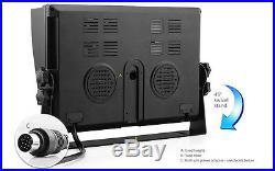 3x Waterproof CCD Reversing Camera 4PIN 9 LCD Monitor Truck Bus Rear View Kit