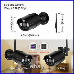 4CH 1080P HD Wireless Security System IP Camera Home CCTV Outdoor WiFi 1TB Kit