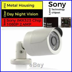 4CH Hikvision CCTV HD 1080P 2.4MP NightVision Outdoor Home Security System Kit