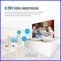 4CH Wireless 1080P DVR+NVR Wifi 720P IP Camera CCTV Security System Kit Outdoor