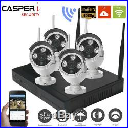 4CH Wireless CCTV 1080P DVR/NVR Kit 1080P Outdoor WiFi IP Camera Security System