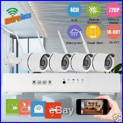 4CH Wireless NVR Kit 720P Smart Home WIFI IP Security Camera Steward CCTV System