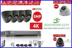 4DVR Hikvision 4K 1080P HD 5MP NightVision Outdoor Home Security CCTV System Kit