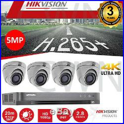 4K Hikvision CCTV Kit 1080P 5MP Night Vision Outdoor DVR Home HD Security System