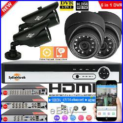 4/8/16CH 1080N CCTV DVR HDMI Outdoor 1500TVL Camera Video Security System Kit