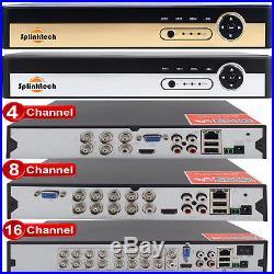 4/8/16CH 1080P CCTV DVR 2.4MP Camera Night Vision Video Home Security System Kit