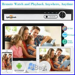 4/8/16CH 1080P CCTV DVR 2.4MP Camera Video Night Vision Home Security System Kit