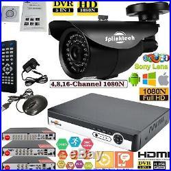 4/8/16CH CCTV DVR 2.4MP Camera 1080P Night Vision Video Home Security System Kit