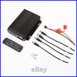 4 Channel Car Truck IR Mobile DVR Security SD Card Recorder +4x Video Camera KIT