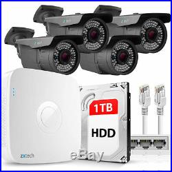 4 Full HD 2MP Ultra Nightvision IP Camera & NVR PoE DIY P2P CCTV Kit 1TB OE44GA1