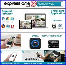 4 camera CCTV Kit 1TB Express One Security 8 Channel DVR & cable complete system