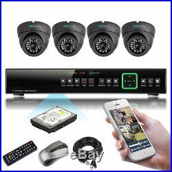 4 x 700TVL Sony Effio-e CCD Night Vision HD-MI DIY P2P CCTV Complete Kit 1000GB