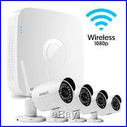 4 x Wireless Zxtech NightVision 2MP CMOS Cam + Digital DVR Enhanced DIY CCTV Kit