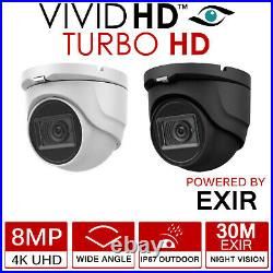 4k Cctv System Dvr 8ch Outdoor Dome 8mp VIVID Hd Camera Security Kit Nightvision