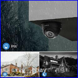 4pcs CCTV Outdoor Dome System 5MP Lite H. 265+DVR NightVision Camera Security Kit