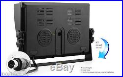 4x 18 IR LED CCD Reversing Camera + 9 4CH Quad Split Monitor 4PIN Rear View Kit