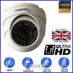 5MP 1080P 2K DVR Home Surveillance CCTV Kits Security Camera System IR Outdoor