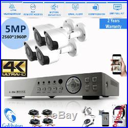 5MP 4K 1960P 1080P CCTV HD NightVision Outdoor DVR Home Security System Kit +1TB