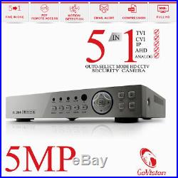 5MP 4K 1960P ULTRA HD CCTV Night Vision Outdoor 4CH DVR Home Security System Kit