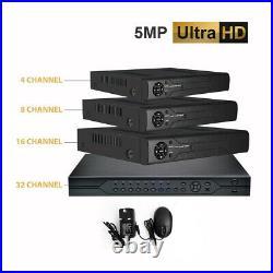 5MP DVR 2K CCTV Recorder HD AHD TVI HDMI P2P IP HOME SECURITY KIT SYSTEM