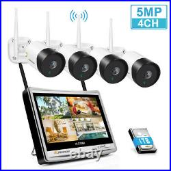 5MP HD Wireless CCTV Camera System Security Outdoor Home Wifi IP Monitor NVR Kit