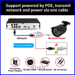 5MP POE CCTV System Kit 4CH NVR HD Home Security IP Camera Audio Surveillance 1T