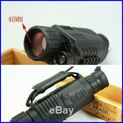 5X40 Digital Monocular Night Vision Infrared Night-Vision Camera Kit Monocu O0N9